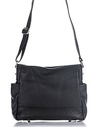 Брендова жіночий кожанаясумка SHERRY diva's Bag колір чорний