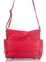 Брендовая женская кожаная сумка SHERRY Diva's Bag цвет красный