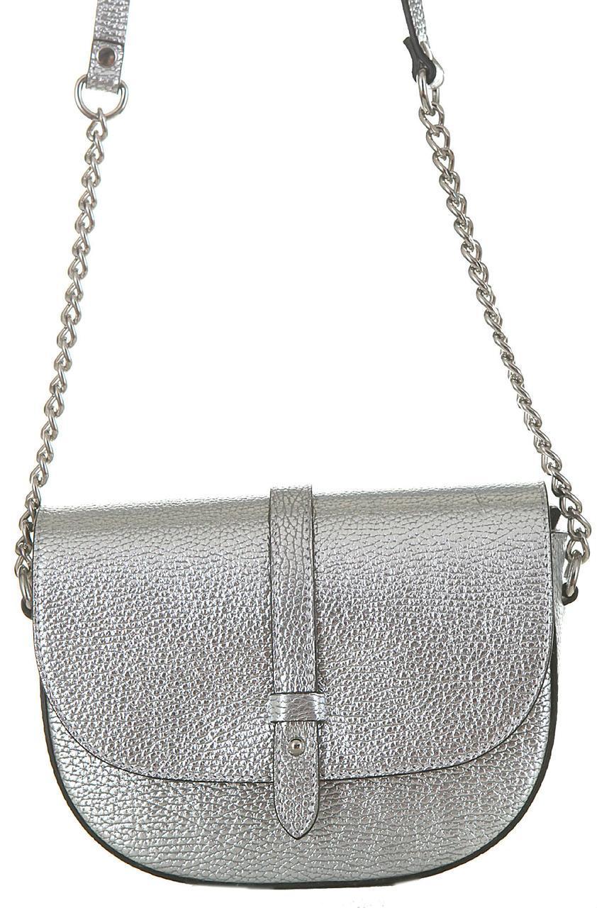Сумка женская кожаная HELGA Diva's Bag цвет серебряный