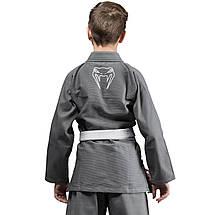 Детское кимоно для джиу-джитсу Venum Contender Kids BJJ Gi Grey, фото 2