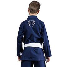 Детское кимоно для джиу-джитсу Venum Contender Kids BJJ Gi Navy Blue, фото 2