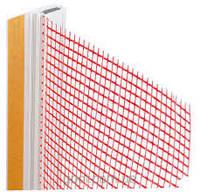 Профиль ПВХ ОКОННЫЙ примыкающий с сеткой оранжевый, 2,4м