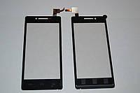 Оригинальный тачскрин / сенсор (сенсорное стекло) для Prestigio MultiPhone 5450 5451 Duo (черный, самоклейка)
