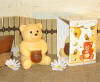 """Подарочное мыло ручной работы """"Медвежонок с мёдом"""""""