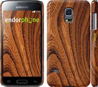 """Чехол на Samsung Galaxy S5 mini G800H Тёмно-коричневое дерево """"1107c-44"""""""