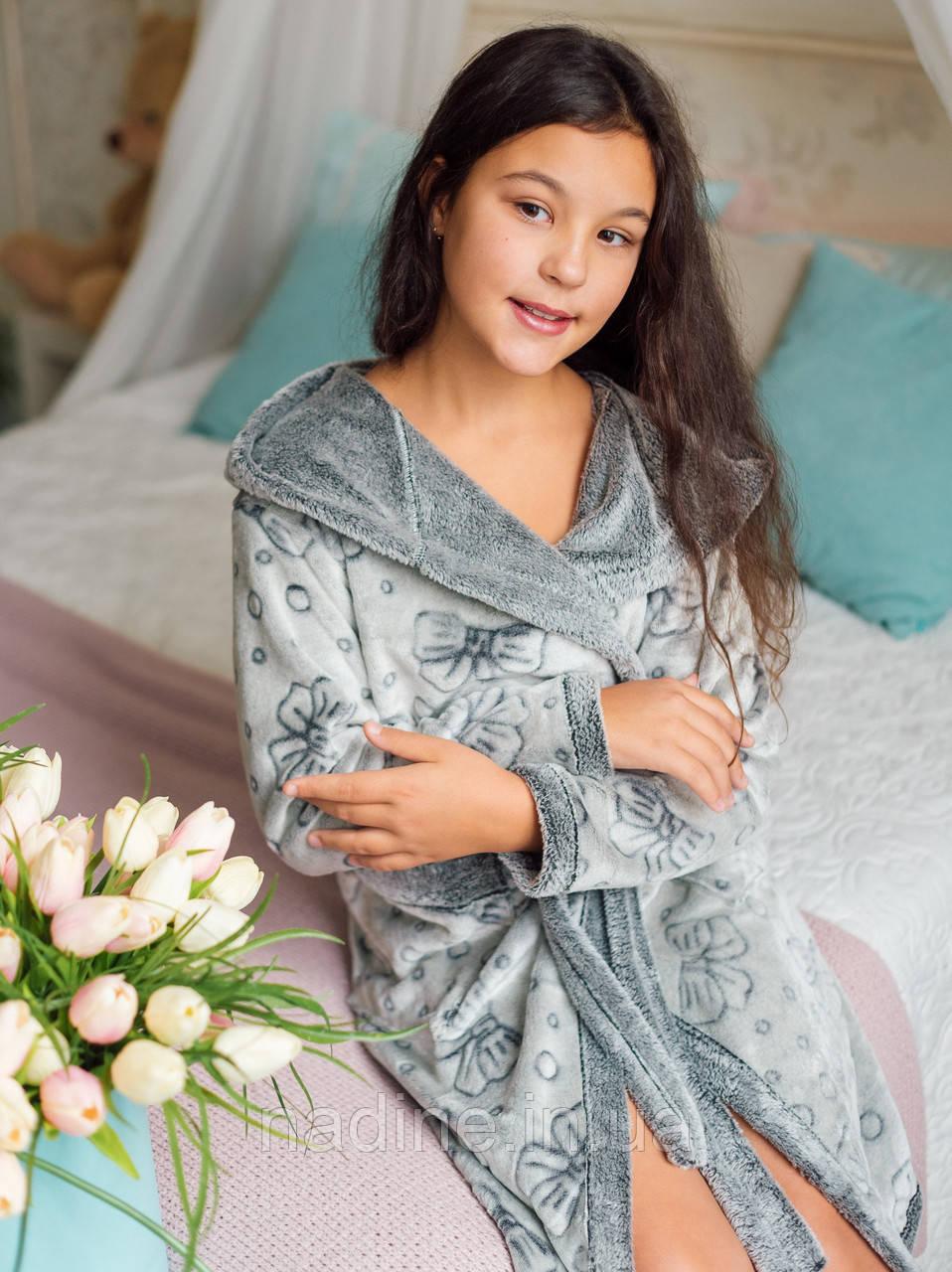 Стильный Халатик Silver Eirena Nadine (40-529) рост 140 серый