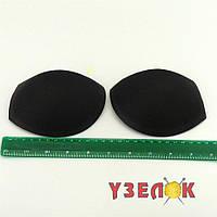 Чашечки для купальника с пуш-апом, размер S, (цвет: черный), цена за пару