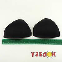 Чашечки для купальника треугольная, размер М, (цвет: черный), цена за пару