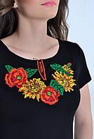 Вышитая женская футболка  657 (Л.Л.Л)