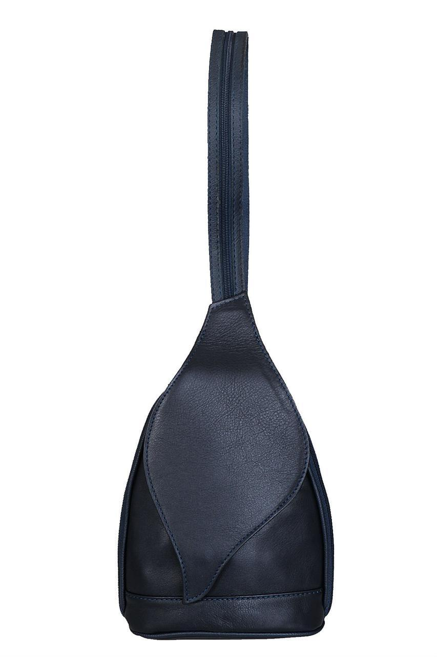 Женский кожаный рюкзак FRESIA Diva's Bag, темно-синяя