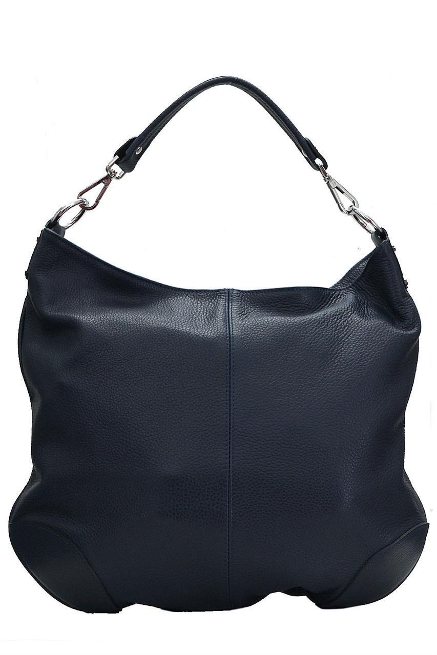 Тоут женская кожаная сумка FEDRA Diva's Bag цвет темно-синий