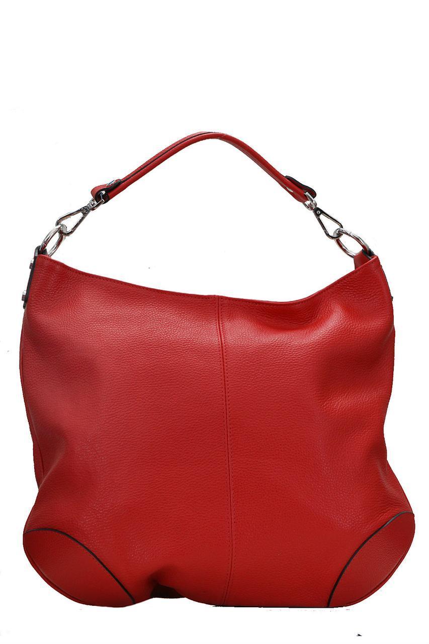 Тоут женская  кожаная сумка FEDRA Diva's Bag цвет красный