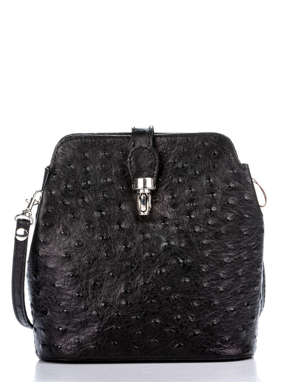 Стильная женская кожаная сумка INES Diva's Bag цвет черный
