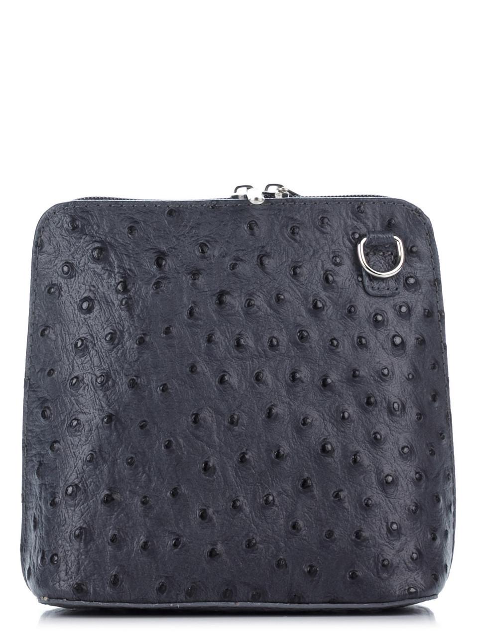 Жіноча шкіряна сумка diva's Bag GRETAцвет темно-сірий