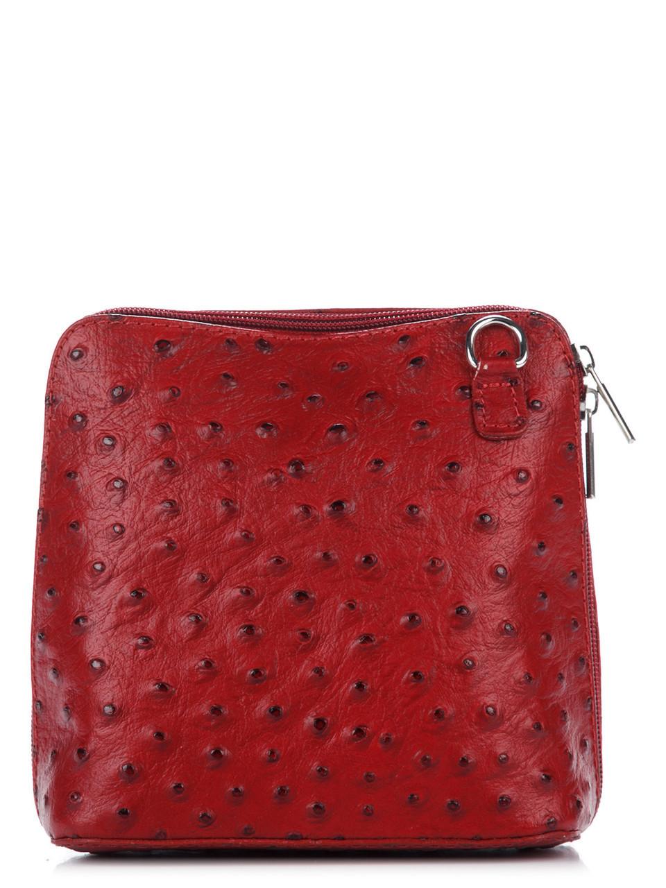 Женская кожаная сумка Diva's Bag GRETA цвет бордовый