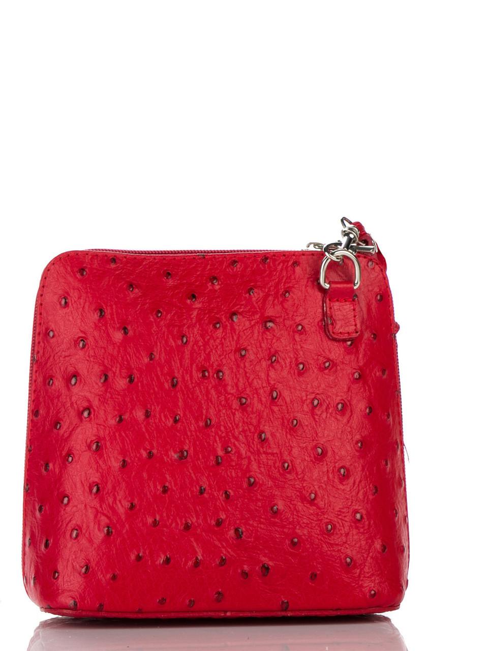 Женская кожаная сумка Diva's Bag GRETA цвет красный