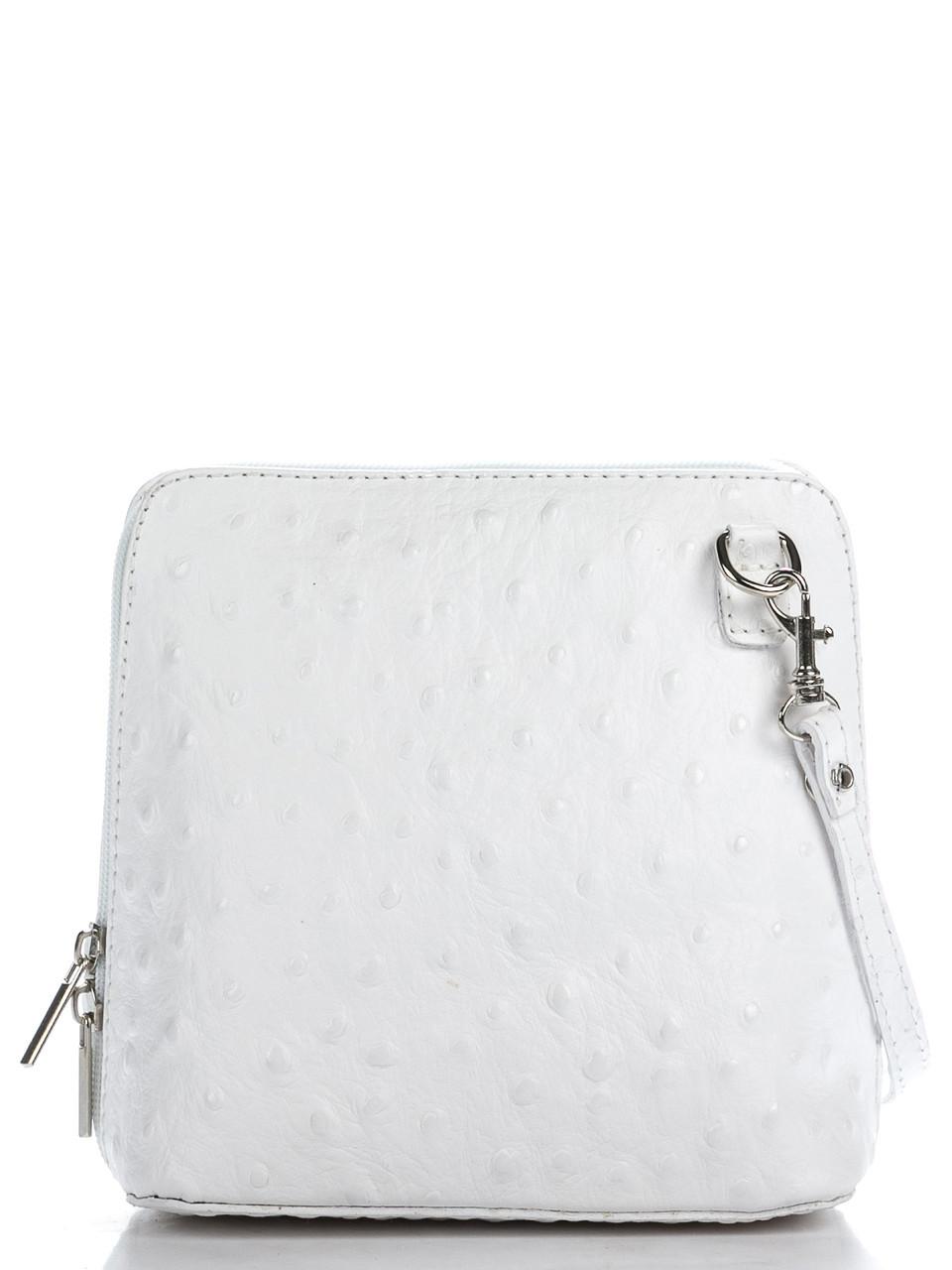 Женская кожаная сумка Diva's Bag GRETA цвет белый