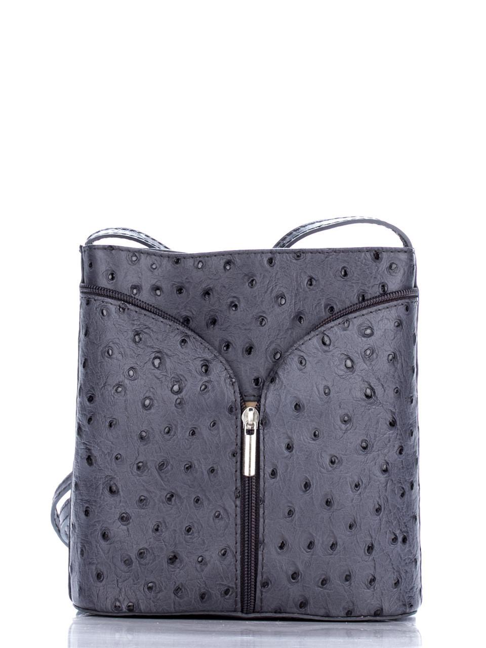 Diva's Bag Женская кожаная сумка KYRA цвет темно-серый