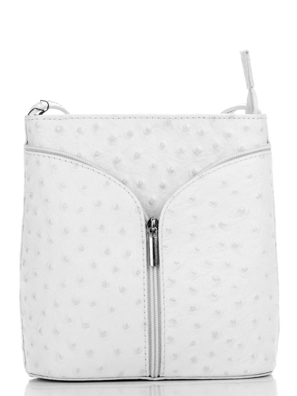 Diva's Bag Женская кожаная сумка KYRA цвет белый