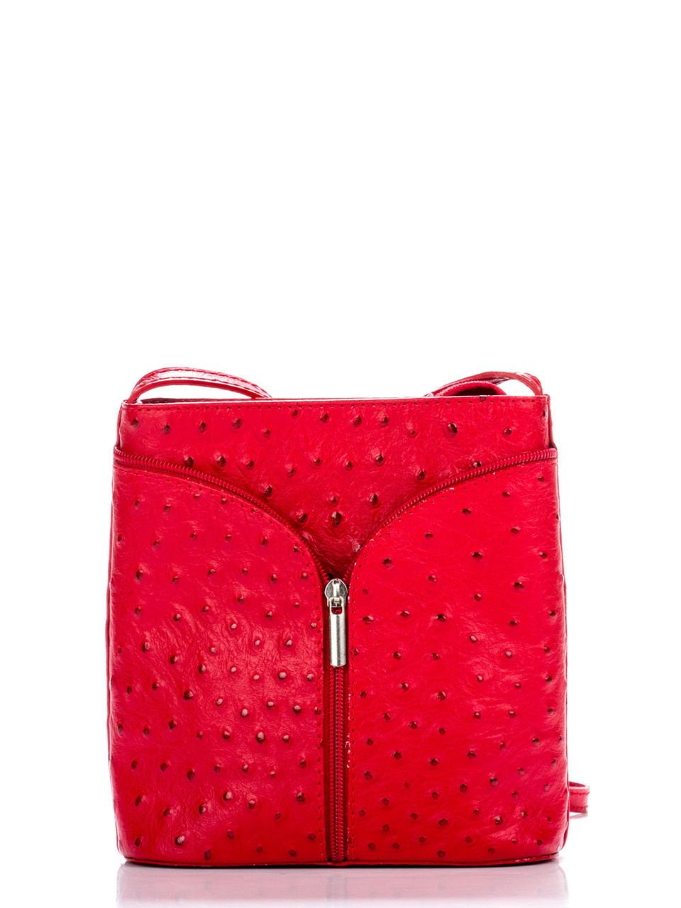 Diva's Bag Женская кожаная сумка KYRA цвет красный