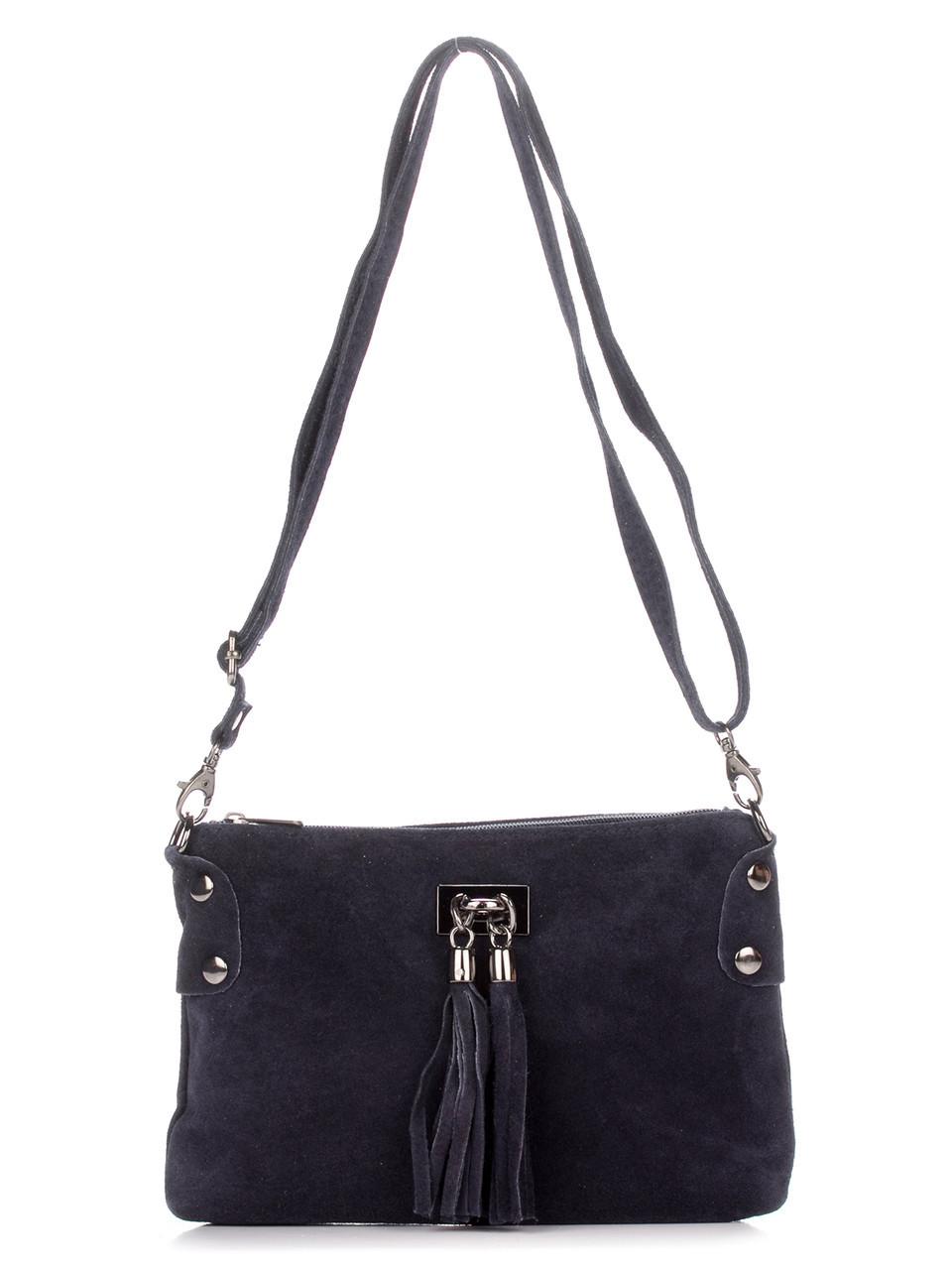Женская кожаная сумка TIANNA Diva's Bag цвет темно-синий