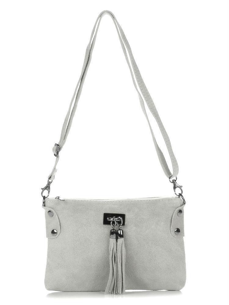 Женская кожаная сумка TIANNA Diva's Bag цвет серый