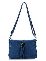 Жіноча шкіряна сумка TIANNA diva's Bag колір синій