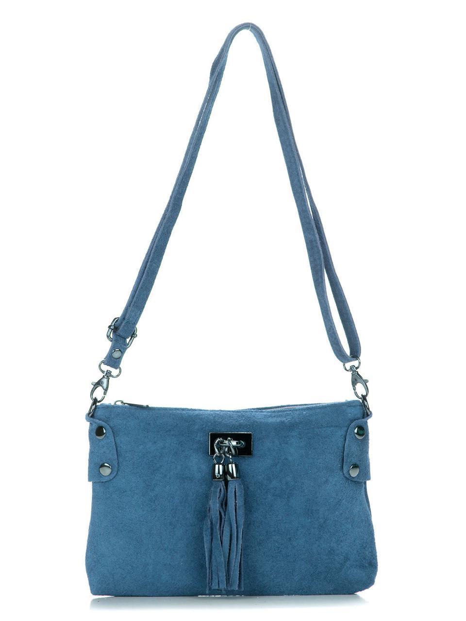 Женская кожаная сумка TIANNA Diva's Bag цвет синий