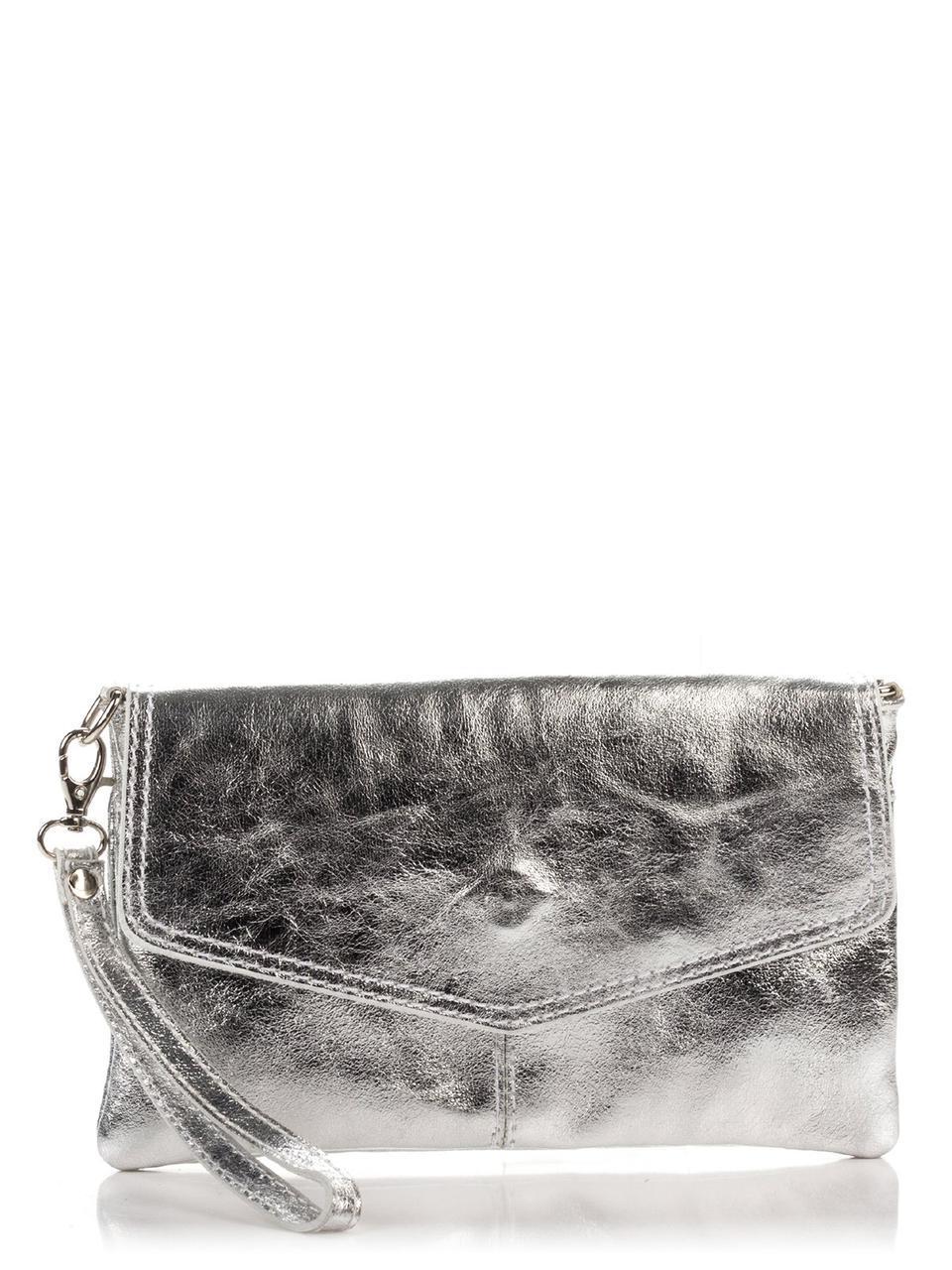 Итальянская сумка DIANA Diva's Bag цвет серебряный