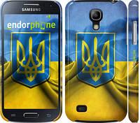 "Чехол на Samsung Galaxy S4 mini Duos GT i9192 Флаг и герб Украины 1 ""375c-63"""