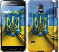 "Чехол на Samsung Galaxy S5 mini G800H Флаг и герб Украины 1 ""375c-44"""