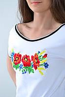 Вышитая женская футболка  658 (Л.Л.Л), фото 1