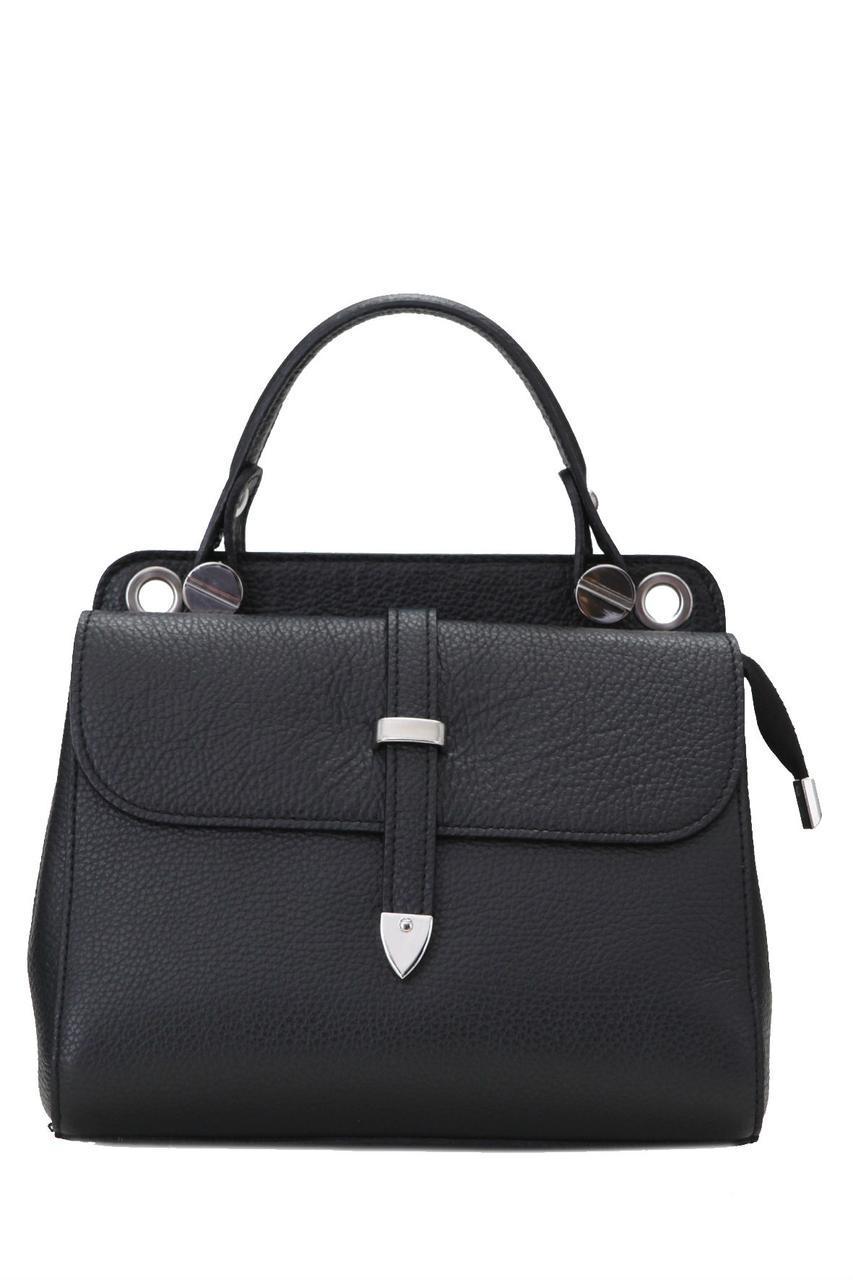 Женская кожаная каркасная сумочка TABBY Diva's Bag цвет черный