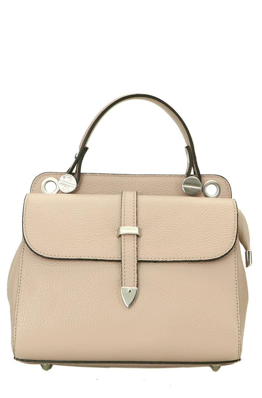 Жіноча шкіряна каркасна сумочка TABBY diva's Bag колір пудра