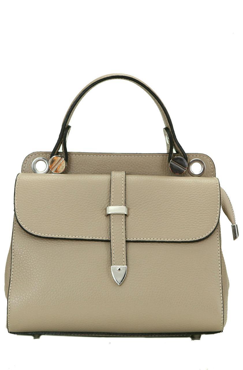 Жіноча шкіряна каркасна сумочка TABBY diva's Bag колір темно-бежевий