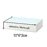 40шт Меламиновые губки повышенной плотности (16кг/м.куб), упаковка