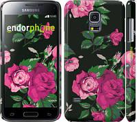 "Чехол на Samsung Galaxy S5 mini G800H Розы на черном фоне ""2239c-44"""