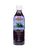 Упаковка безалкогольного негазированного  напитка Aloe Vera Drink Blueberry Dellos  0.5 л х 20 бут