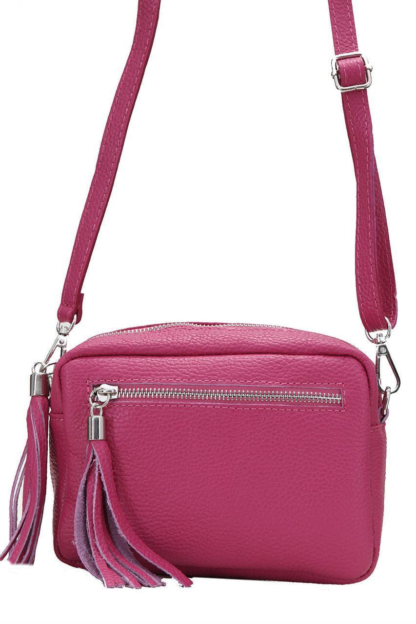 Итальянская сумочка кросс боди STINA Diva's Bag цвет малиновый