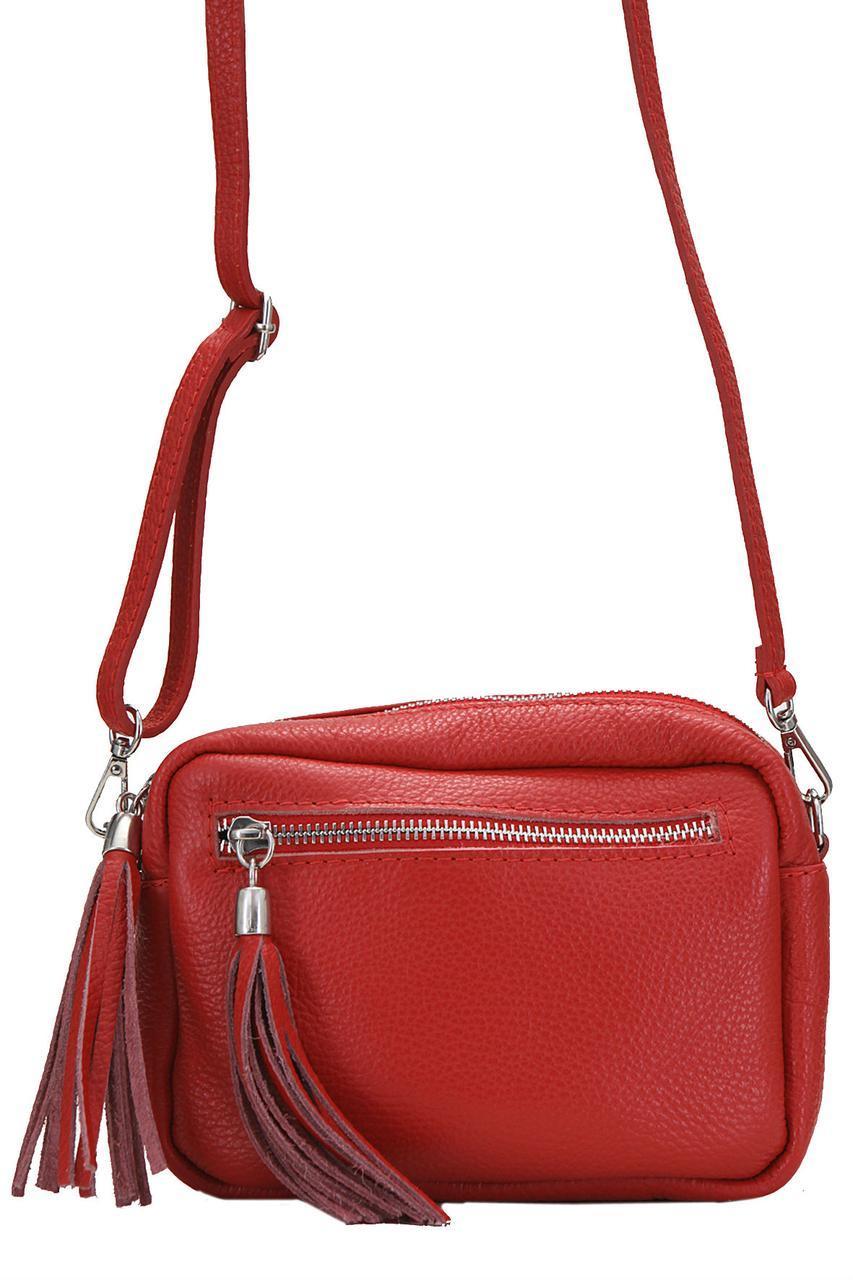 Итальянская сумочка кросс боди STINA Diva's Bag цвет красный