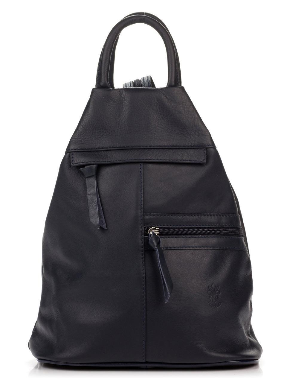 Синий женский кожаный рюкзак STACIA Diva's Bag