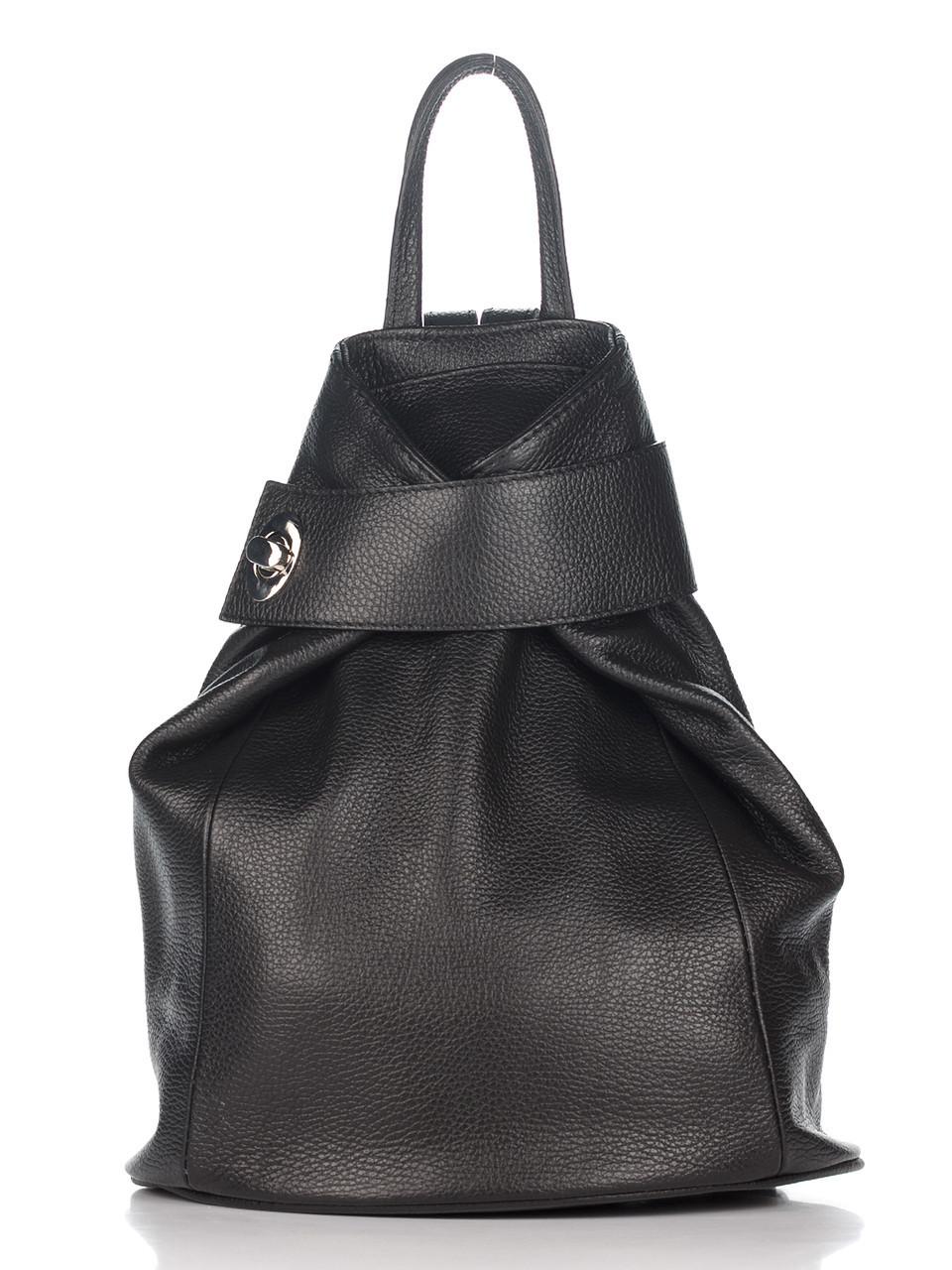 Черный женский кожаный рюкзак STELLA Diva's Bag