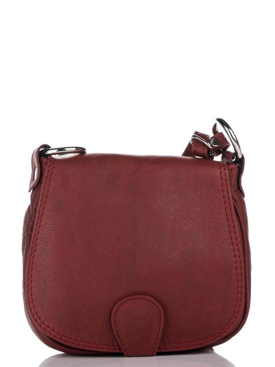 Женская кожаная сумка через плечо SIBILLA Diva's Bag цвет бордовый