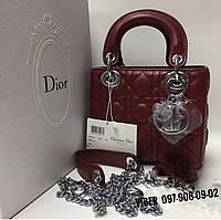 Женская сумка бордовая D**i*o*r
