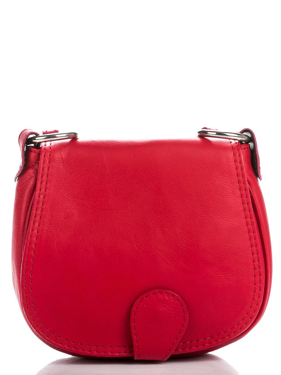 Женская кожаная сумка через плечо SIBILLA Diva's Bag цвет красный
