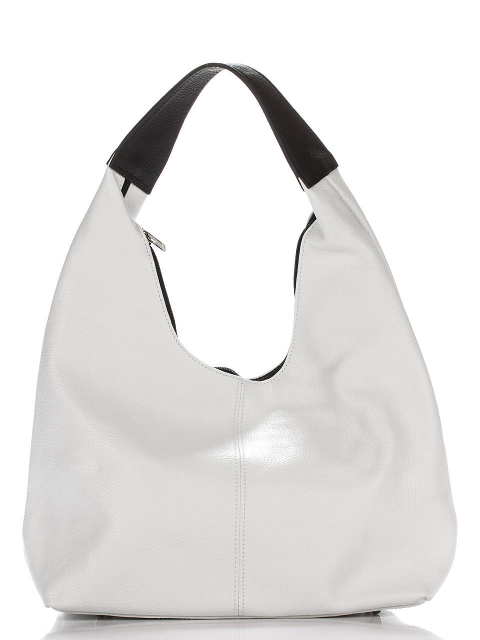 Женская кожаная сумка хобо SONDRA Diva's Bag цвет белый