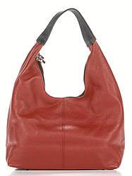 Женская кожаная сумка хобо SONDRA Diva's Bag цвет красный