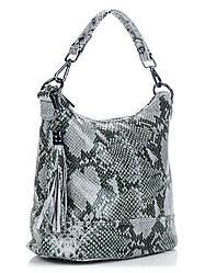 Женская кожаная сумка ковш SISSI Diva's Bag цвет серо-голубой