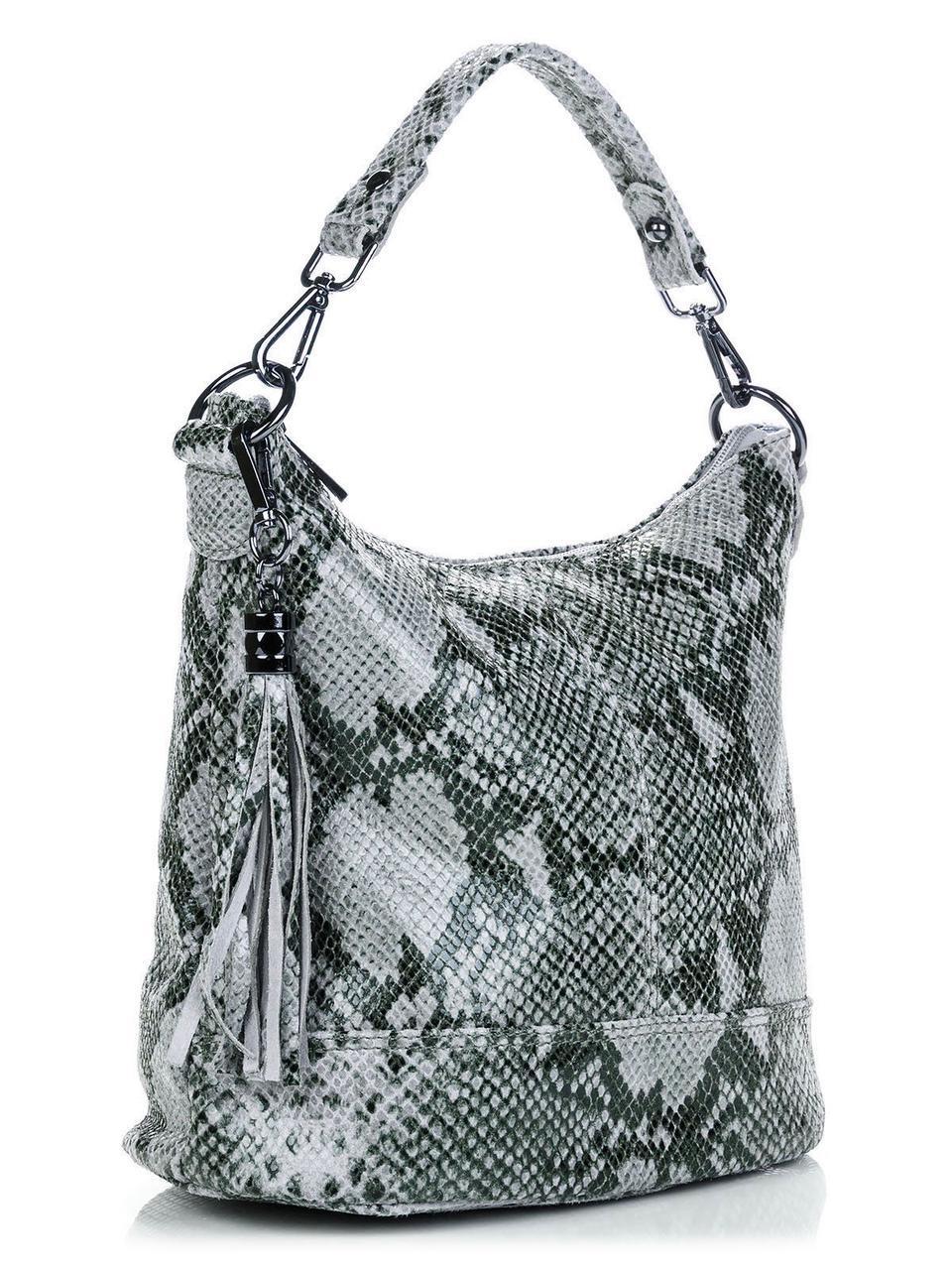 Женская сумка-ковш SISSI Diva's Bag серо-голубая 26 см х 27 см х 15 см