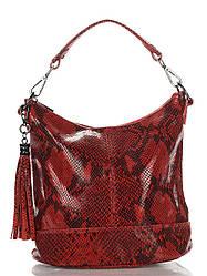 Женская кожаная сумка ковш SISSI Diva's Bag цвет красный
